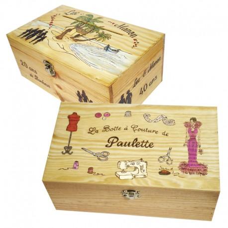 Petite Malette en bois personnalisable