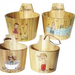 Pot en bois personnalisable